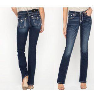 Miss Me Classic Trend Boot Cut Blue Jeans